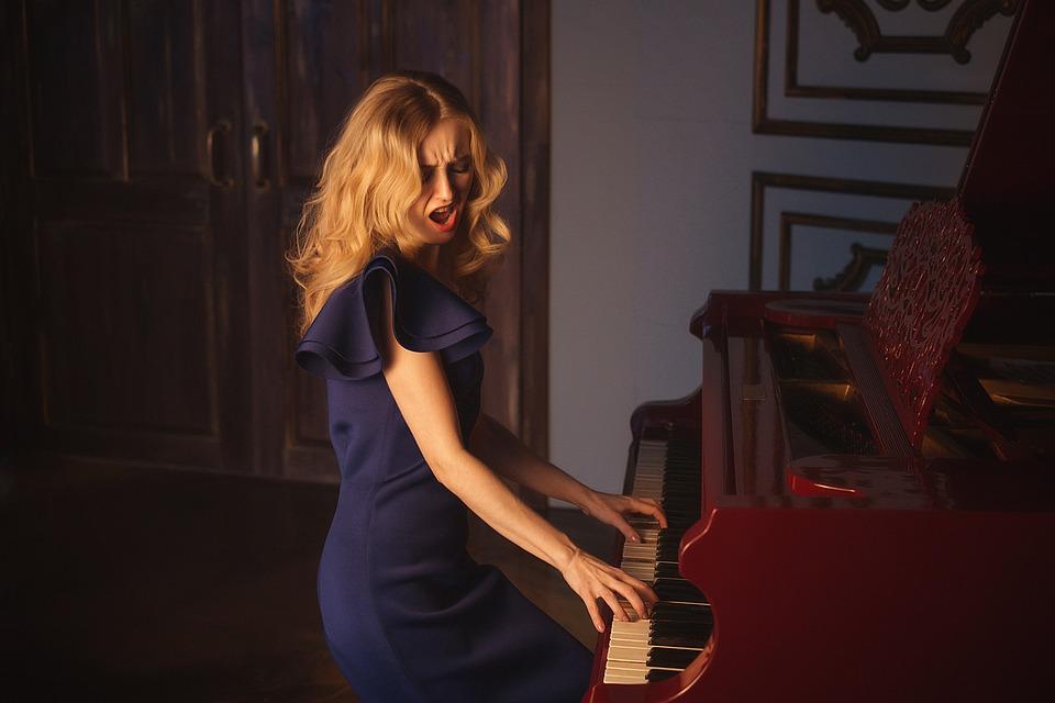 People, Woman, One, Music, Musician, Girl, Piano