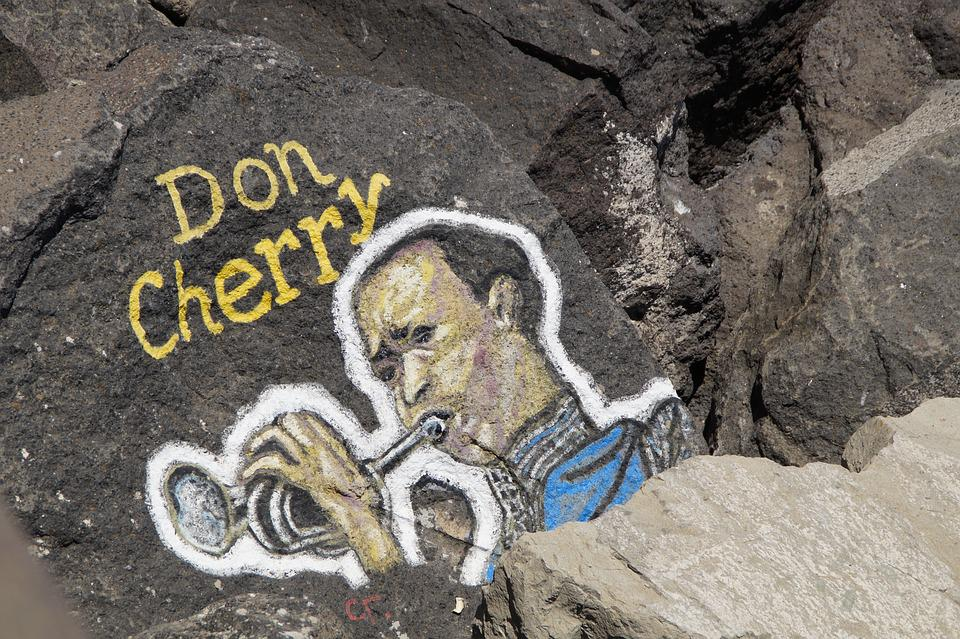 Don Cherry, Trumpet, Musician, Art, Painting, Stones
