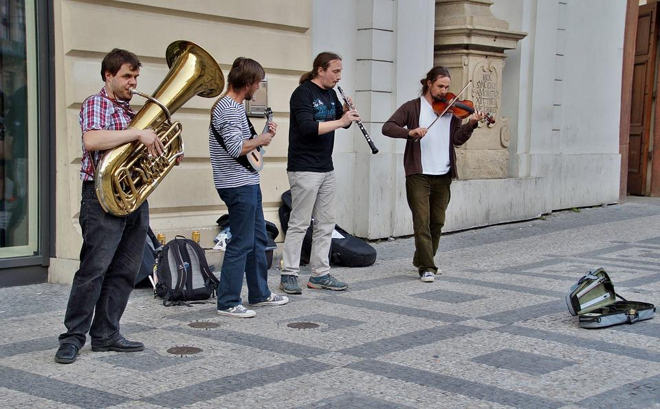 Street Performers, Group, Musicians, Street