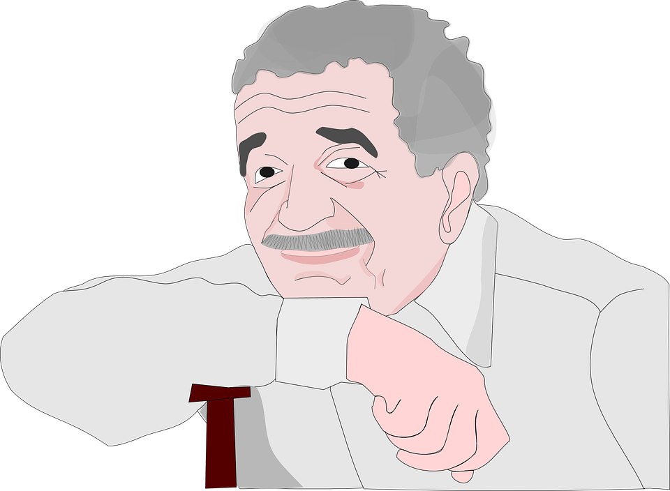 Garcia Marquez, Grandfather, Gray, Man, Mustache, Old