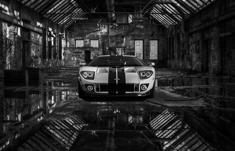 Ford, Warehouse, Car, Mustang, Auto, Vehicle, Classic