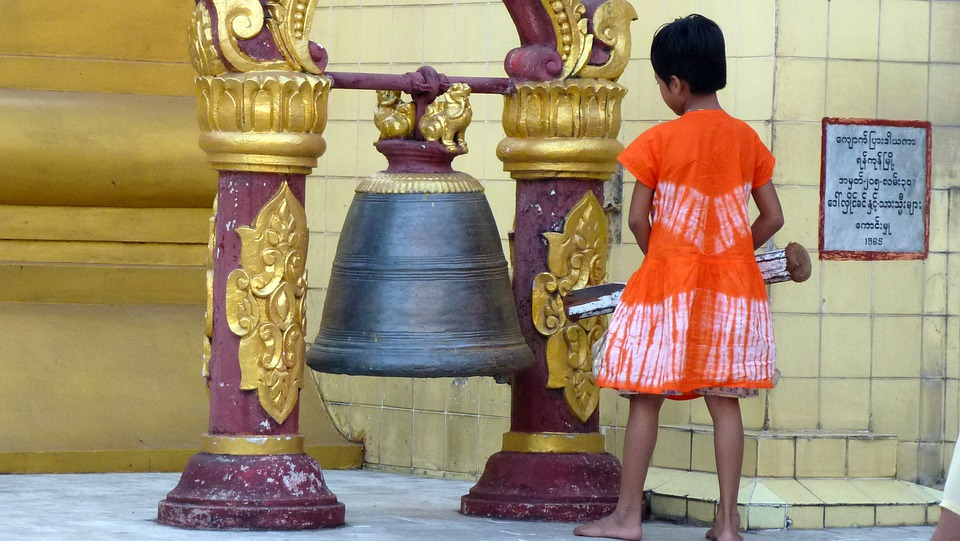 Myanmar, Bell, Buddha, Monument, Statue, Creative