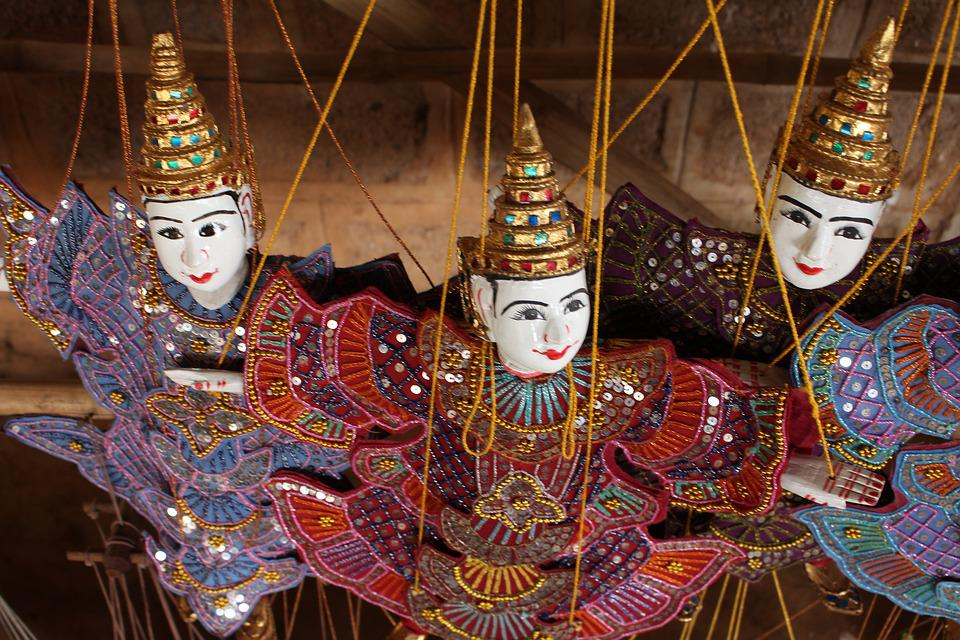 Puppet, Traditional, Culture, String, Myanmar, Burma