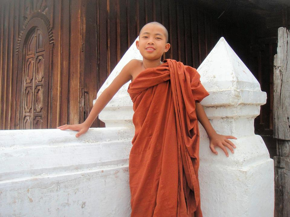 Monk, Myanmar, Religion, Buddhism, Burma, Child, Boy