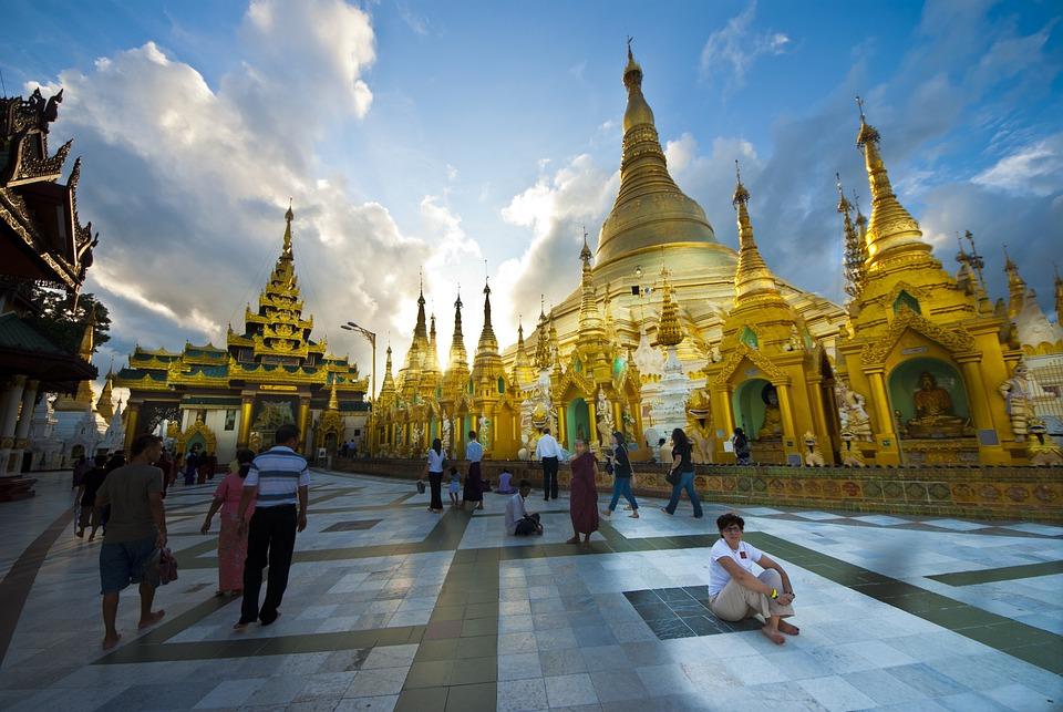 Myanmar, Pagoda, Buddhism, Religion, Yangon, Sacred