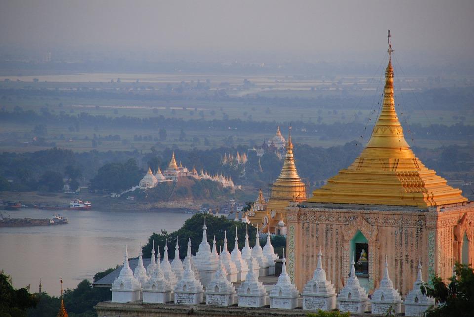 Burma, Temple, Myanmar, Landscape, Stupa