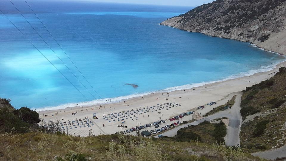Beach, Greece, Myrtos, Kefalonia
