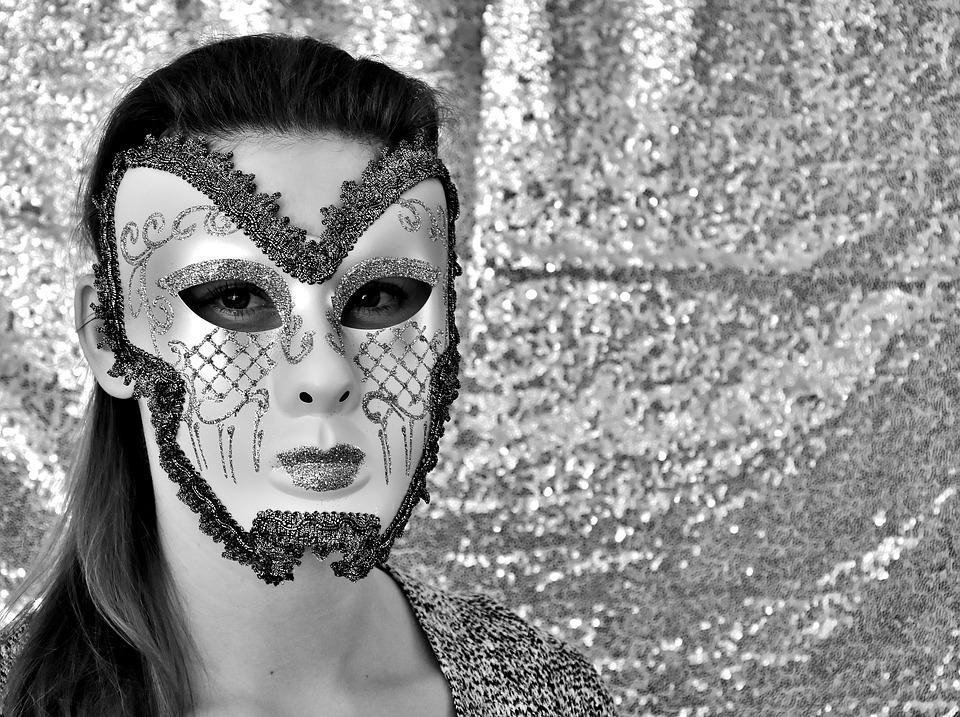 Woman, Mask, Anonymous, Costume, Carnival, Mysterious
