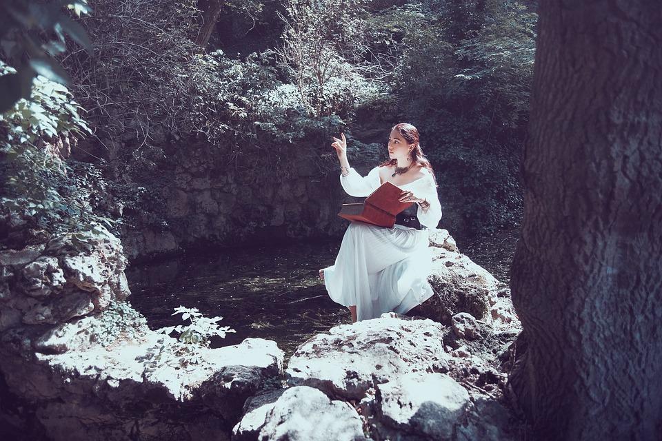 Girl, Fantasy, Lake, Costume, Mysterious, Mystical