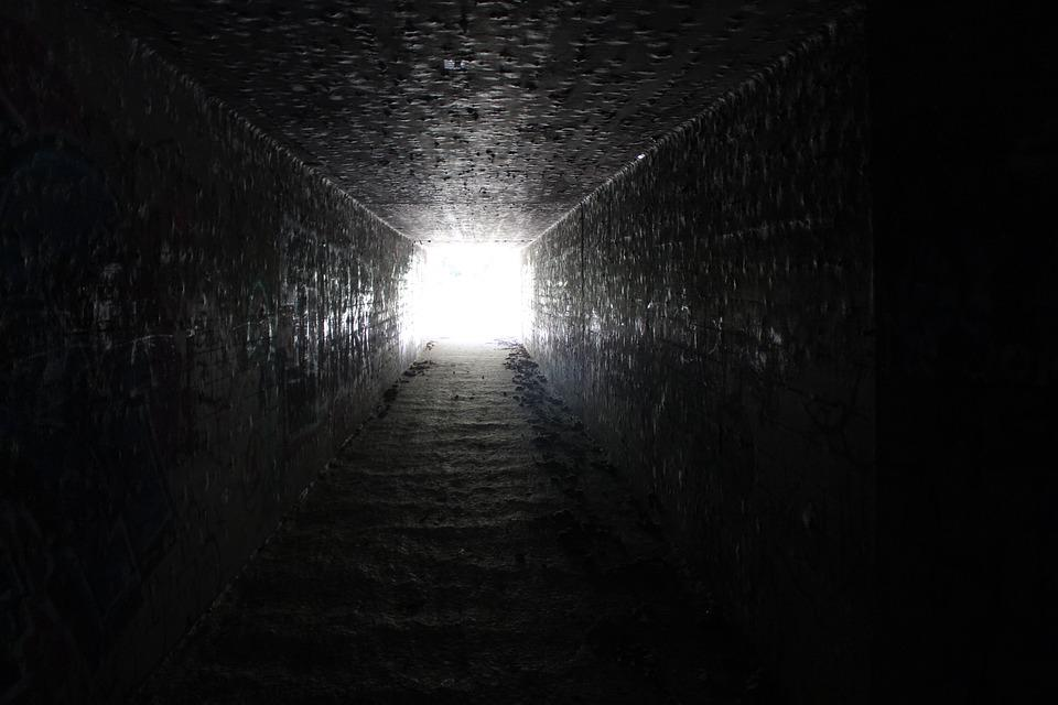 Tunnel, Light, End, Dark, Mysterious, Unknown, Path