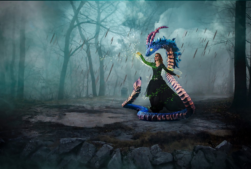 Mystery, Women's, Fantasy, Snake, Design, Decoration