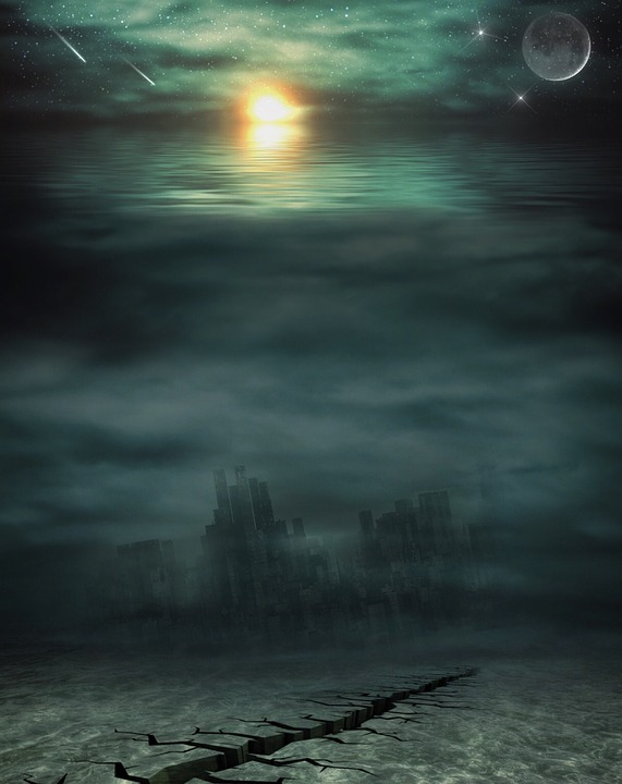 Apocalypse, Water, Sea, Setting, Mystical, Atmospheric