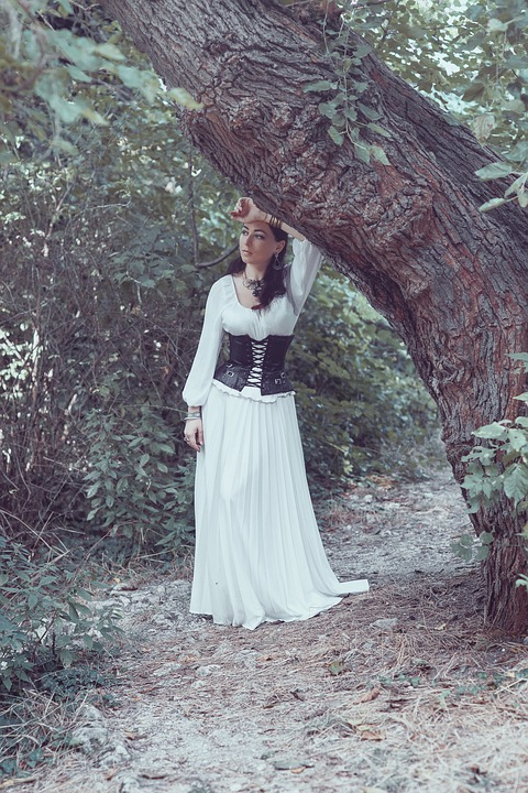 Girl, Fantasy, Forest, Mysterious, Mystical, Woman