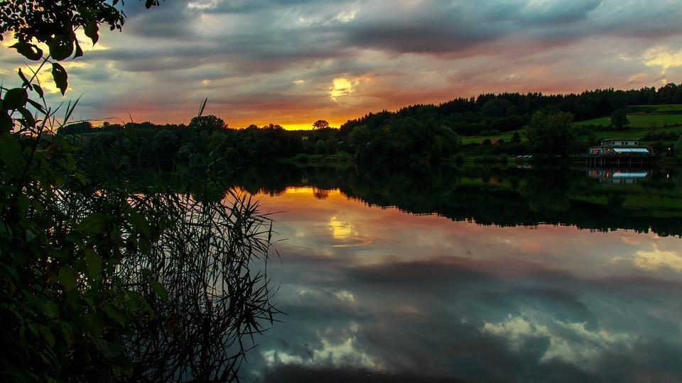 Sunset, Target Began, Lake, Morgenstimmung, Mystical