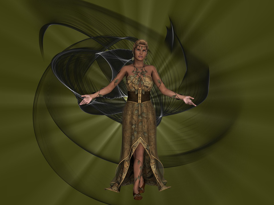 Composing, Woman, Mystical, Fantasy, Mysterious, Mood