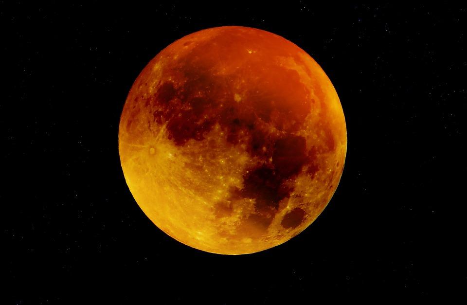 Moon, Blood Moon, Full Moon, Moonlight, Mystical, Night