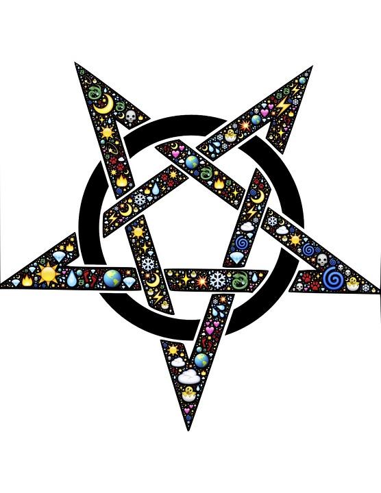 Pentacle, Emoji, Nature, Mystical, Magical, Wicca