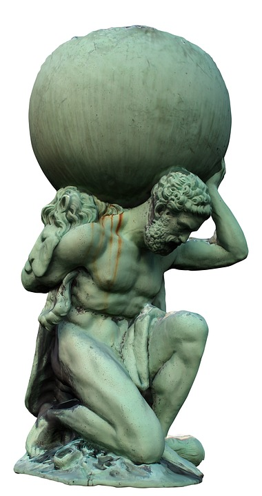 Atlas, Sculpture, Myth, Historic, Monument, Man, Statue