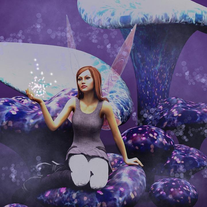 Elf, Fantasy, Mushrooms, Fairytale, Mythical Creatures