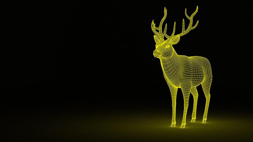 Deer, Dream, Animal, Fantasy, Mythology, Magic, 3d