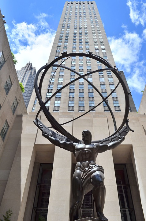 Atlas, Strength, New York, Statue, Mythology