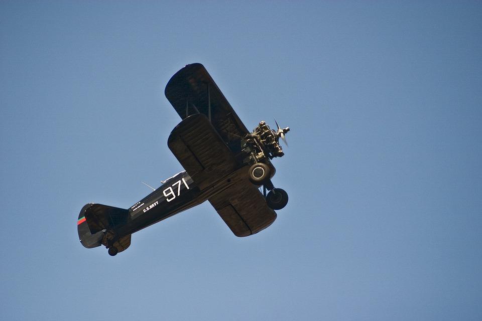 Airplane, Boeing-stearman, N62ts, Show, Sky