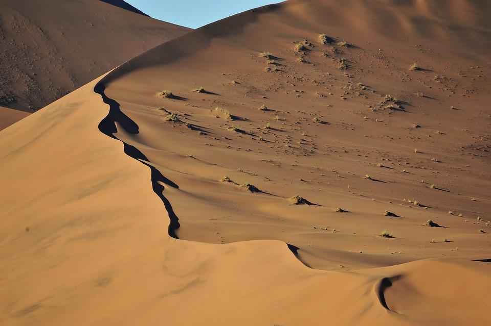 Nabibia, Desert, Nabib, Dune, Shadows, Landscape, Light
