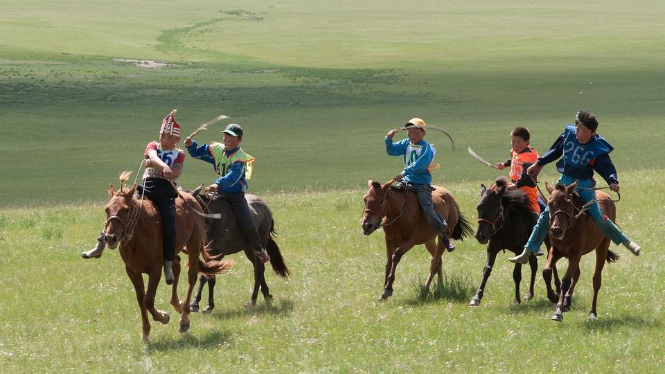 Mongolia, Nadam, Ride, Competition, Children