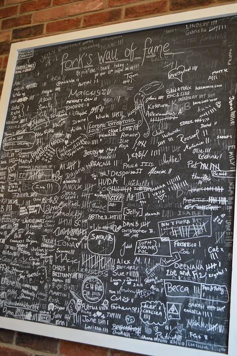 Chalk Board, Board, Names