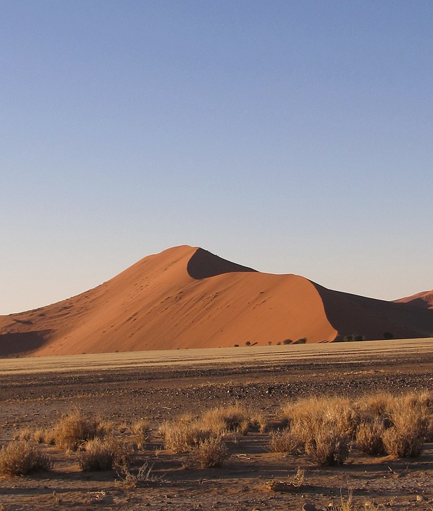 Sossusvlei, Dune 45, Namibia, Sand, Desert, Drought