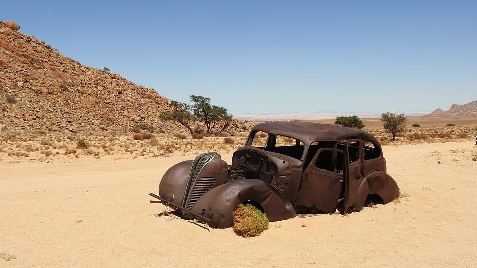 Desert, Africa, Namibia, Kalahari Desert, Wreck, Auto