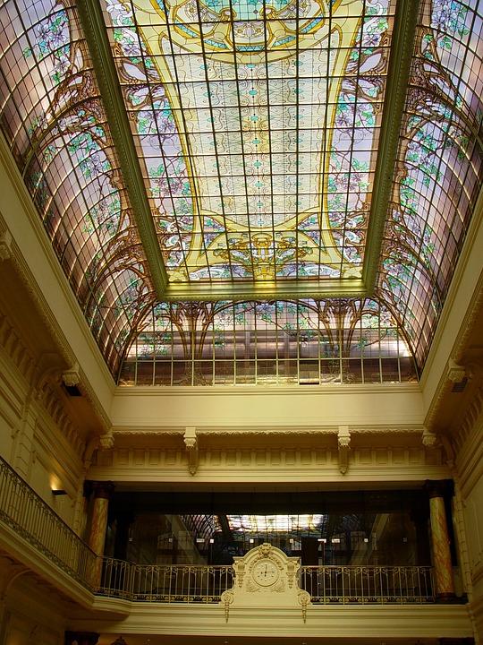 Nancy, Art Nouveau, Glass Ceiling, Crédit Lyonnais