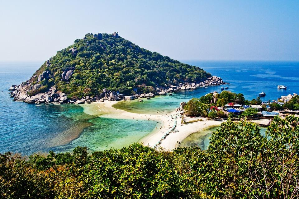 Koh Tao, Thailand, Koh Nang Yuan, Nangyuan, Beach
