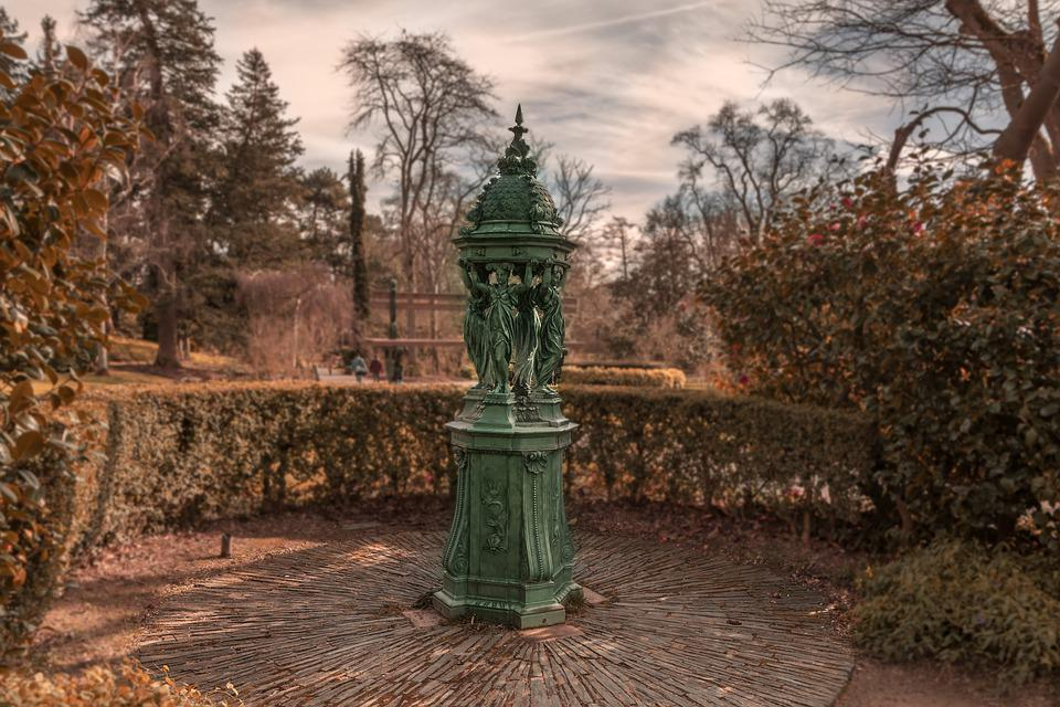 Nantes, Fall, No Person, Sky, Travel, Fountain