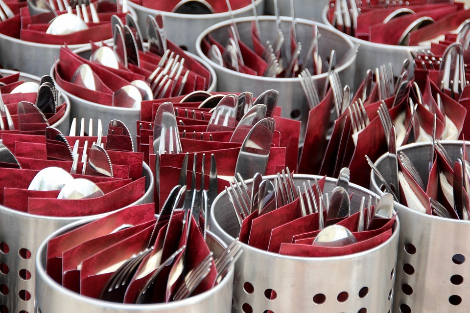 Cutlery, Knife, Metal, Cover, Cutlery Basket, Napkin