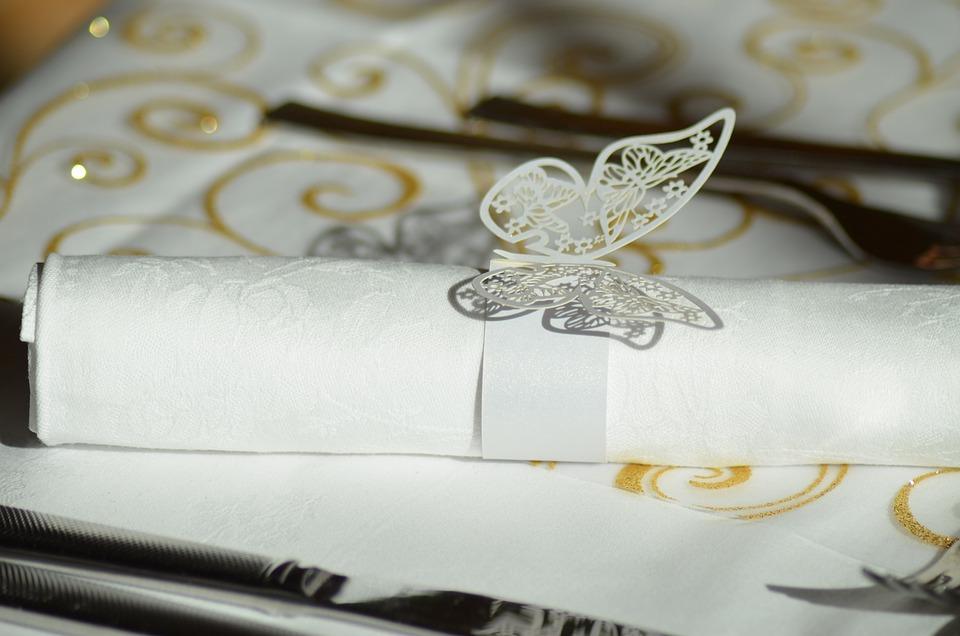 Napkin Ring, Napkin Paper Ring, Butterfly Napkin Ring