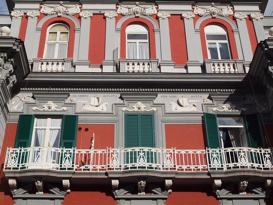 Naples, Italy, Colors, Palazzo, Architecture