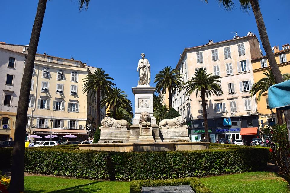 Monument, Napoleon, Napoleon Bonaparte, Ajaccio
