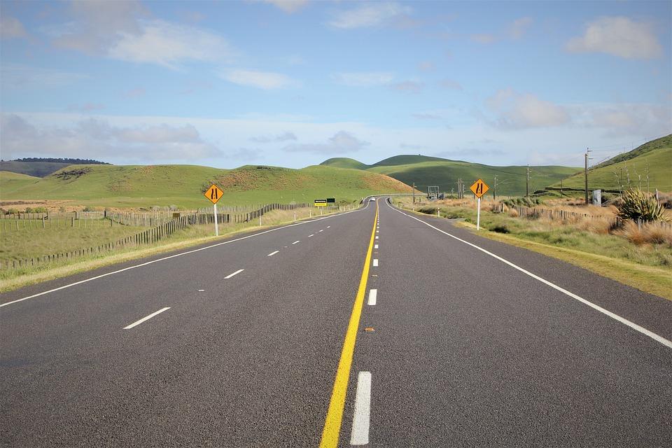 Open, Road, Ahead, Wide, Narrow, Nz, New, Zealand