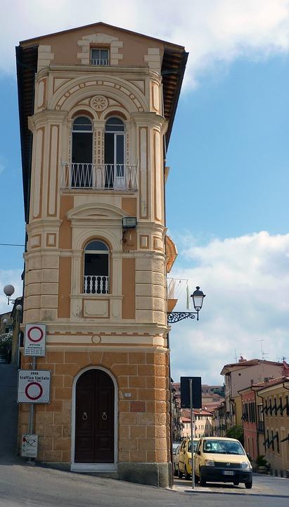 Italy, Poroferraio, Elba, Tuscany, Home, Narrow