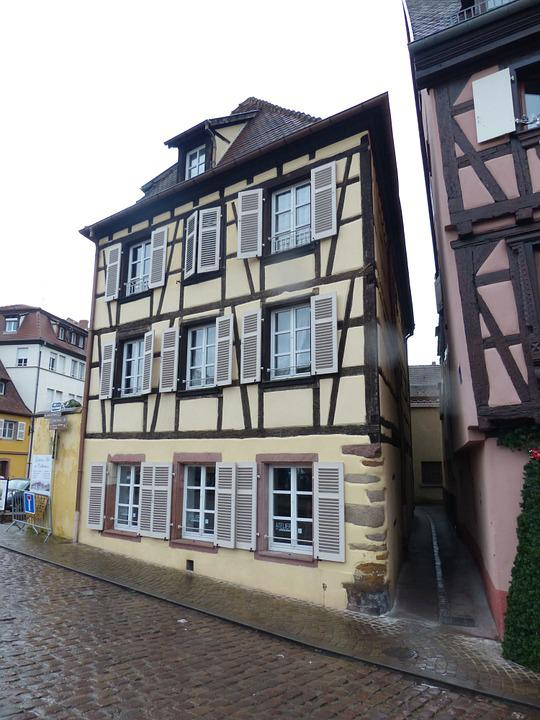 Old Town, Colmar, Truss, Narrow Lane
