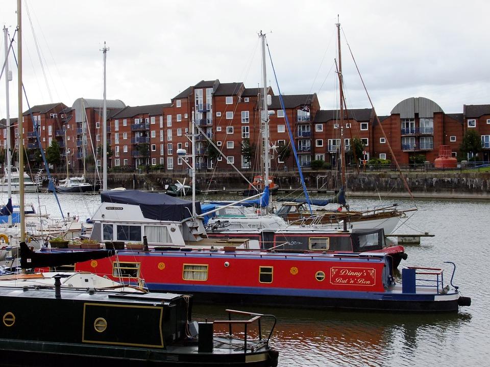 Narrow, Boats, Preston, Dock, Marina