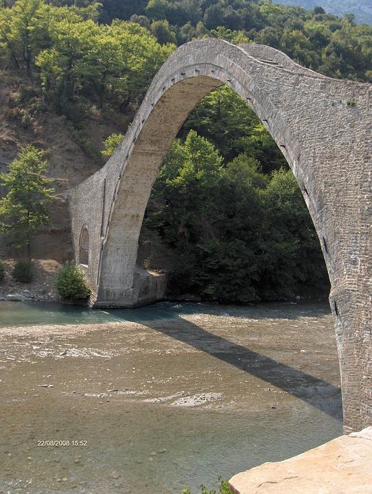 Bridge, Nature, River, Stone, Narrow, Ancient, Historic