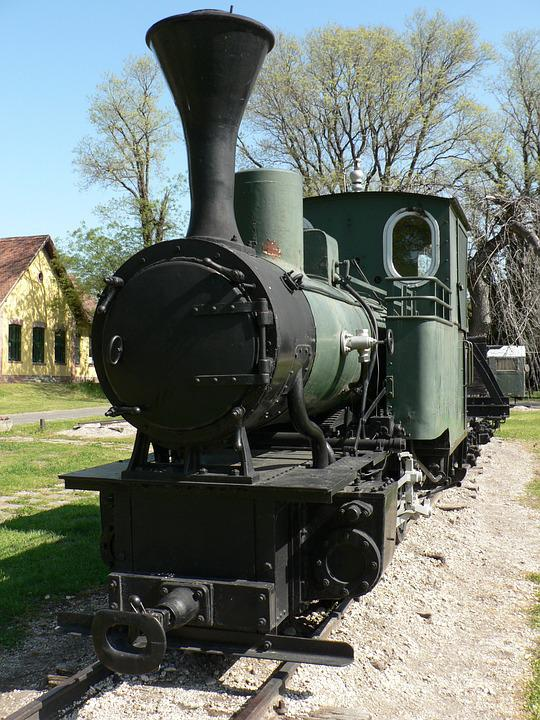 Old, Steam Engine, Narrow Track, Rail, Transport
