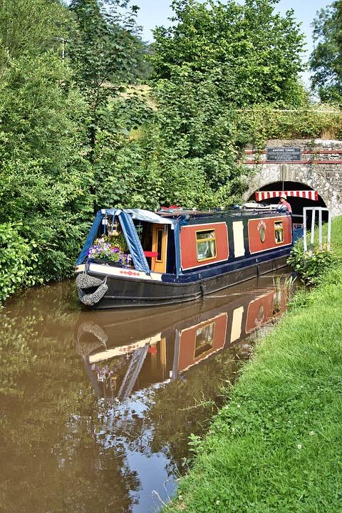 Narrowboat, Canal, Bridge, Boat, Houseboat, Transport
