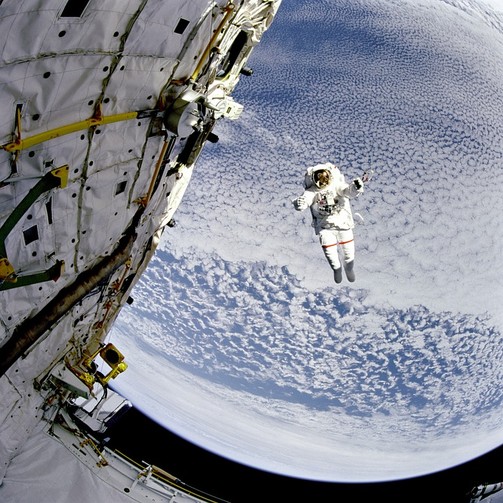 Space, Astronaut, Sky, Suit, Nasa, Clouds, Space-walk