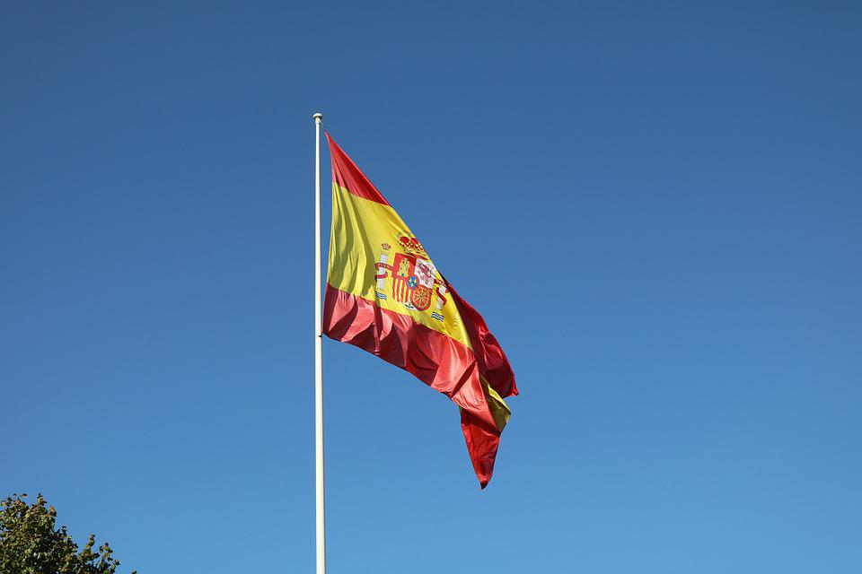 Flag, Spain, Country, Symbol, Europe, Blue, Nation