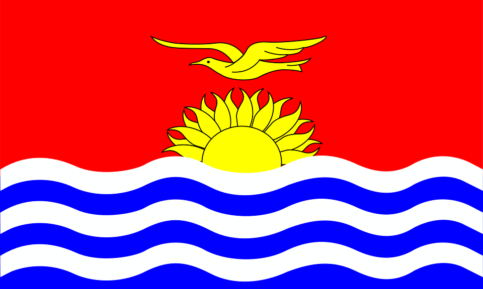 Kiribati, Flag, National, Country, Nation, Republic