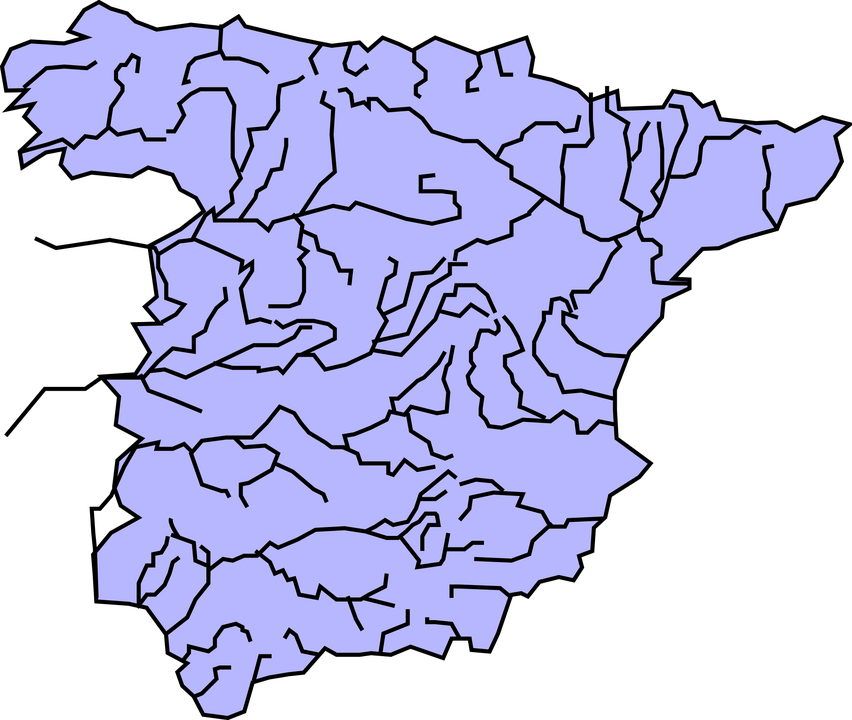 Spain, Geography, Rivers, Map, Europe, Nation