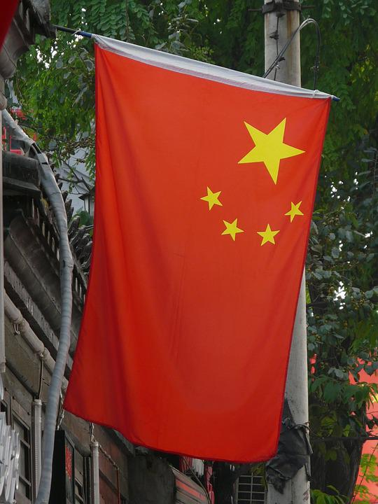 China, Flag, Red, Stars, Nation